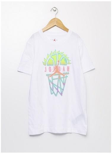 Nike Nike Bisiklet Yaka Beyaz T-Shirt Beyaz
